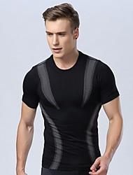 Недорогие -мужская плотно тело формировании светового давления комфортно дышащий быстрого высыхания спорт коротким рукавом