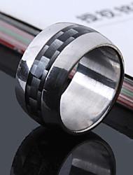 cheap -Men's Party/Casual Fashion Gradient Grid Titanium Steel Wide Rings