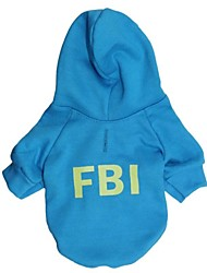 cheap -Cat / Dog Coat / Hoodie Black / Blue Dog Clothes Winter Letter & Number Cosplay