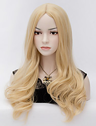 cheap -Synthetic Wig Natural Wave Natural Wave Wig Blonde Blonde Synthetic Hair Women's Blonde