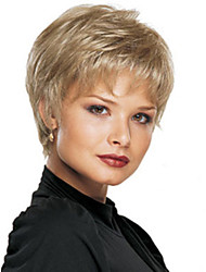 cheap -Synthetic Wig Straight Straight Pixie Cut With Bangs Wig Blonde Short Synthetic Hair Women's Blonde StrongBeauty