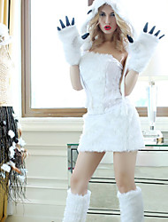 cheap -Animal Cosplay Costume Women's Halloween Festival / Holiday Spandex Lycra Fur White Women's Easy Carnival Costumes