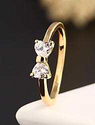 cheap -Women's Statement Ring Alloy Ladies Fashion Wedding Party Jewelry Two Stone / Zircon