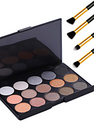 cheap -15 Colors Eyeshadow Palette Powders Makeup Brushes Eye Matte Shimmer Glitter Shine smoky Smokey Makeup Cosmetic Gift