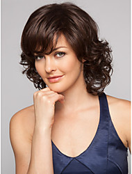 cheap -Synthetic Wig Wavy Wavy Wig Short Brown Synthetic Hair Women's Brown