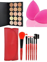 abordables -Crème Correcteur / Contour Pinceaux de Maquillage 7 pcs Sec / Mélange / Huileux Correcteur Maquillage Cosmétique