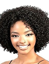 cheap -Synthetic Wig Curly Curly Wig Short Black Synthetic Hair Women's African American Wig Black StrongBeauty