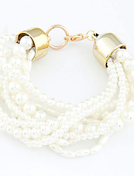 cheap -European Style Fashion Multilayer Imitation Pearl Bracelet