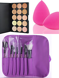 cheap -hot-sale-15-colors-contour-face-cream-makeup-concealer-palette-7pcs-purple-makeup-brushes-set-kit-powder-puff