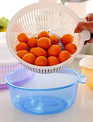 Недорогие -фрукты бассейна утечка корзина с крышкой двойной держатель слой овощей дома (случайный цвет)
