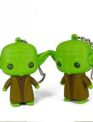 Недорогие -Yoda водить брелок кольцо фонарик звук ключевой свет (случайный цвет)