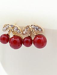 cheap -Women's Crystal Stud Earrings Ladies European Fashion 18K Gold Plated Imitation Pearl Rhinestone Earrings Jewelry Gold For / Imitation Diamond / Austria Crystal