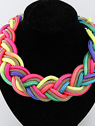 cheap -Women's Choker Necklace Fashion Alloy Screen Color Necklace Jewelry For Special Occasion Birthday Gift