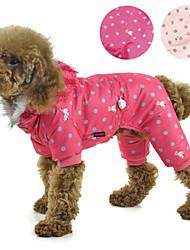 cheap -Dog Coat Outdoor Winter Dog Clothes Pink Orange Rose Costume Terylene XS S M L XL XXL