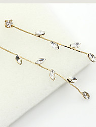 cheap -Women's Crystal Drop Earrings Hanging Earrings Ladies European Fashion 18K Gold Plated Rhinestone Gold Plated Earrings Jewelry Gold For Wedding Masquerade Engagement Party Prom Promise