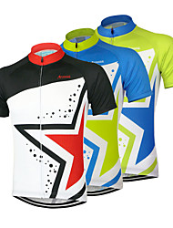 cheap -Arsuxeo Men's Short Sleeve Cycling Jersey Green Blue Black Stars Bike Jersey Top Mountain Bike MTB Road Bike Cycling Breathable Quick Dry Anatomic Design Sports Clothing Apparel / Stretchy