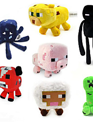 "cheap -Minecraft 7"" Plush - Creeper, Baby Ocelot, Baby Pig Enderman Baby Cow Baby Sheep (7pcs/lot)"