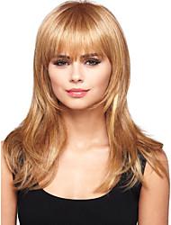 cheap -Human Hair Wig Wavy Short Hairstyles 2019 Wavy Capless Red Mixed Black Blonde Dark Brown 24 inch