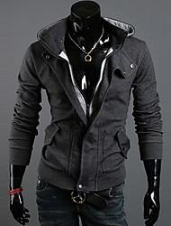 cheap -Men's Plus Size Hoodie Jacket Solid Colored Active Sports - Long Sleeve Black Dark Gray Light gray M L XL XXL XXXL / Spring / Fall / Winter