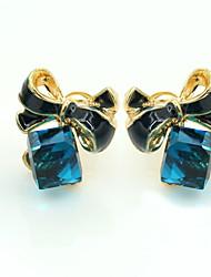cheap -Women's Crystal Stud Earrings Ladies European Fashion 18K Gold Plated Rhinestone Gold Plated Earrings Jewelry Blue For / Imitation Diamond / Austria Crystal