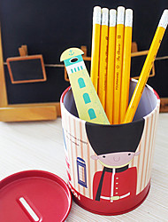 billige -uk tema storbritannien soldat desktop blyantsholder mønt besparelse beholder (tilfældig farve)