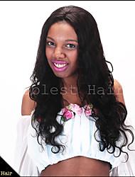 cheap -Human Hair Wig Body Wave Body Wave Machine Made Natural Black 20 inch