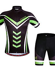cheap -WOSAWE Bike Suits Cycling Jersey Shorts Set Outdoor Bicycle Short Sleeve Clothing