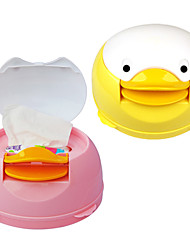 billige -auto- søde duckc væv boks manuel serviet papir dispenser (tilfældig farve)