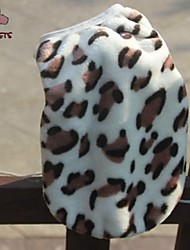 cheap -Cat Dog Vest Winter Dog Clothes Leopard Costume Polar Fleece Leopard Casual / Daily Keep Warm XS S M L XL