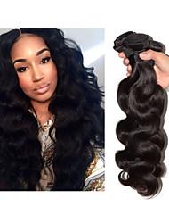 cheap -3 Bundles Brazilian Hair Body Wave Classic Virgin Human Hair Natural Color Hair Weaves / Hair Bulk Human Hair Weaves Human Hair Extensions / 10A