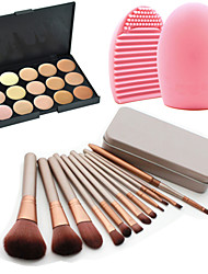 cheap -Professional Makeup Brushes Makeup Brush Set 12pcs Travel Eco-friendly Professional Full Coverage Hypoallergenic Limits Bacteria Makeup Brushes for Makeup Brush Set