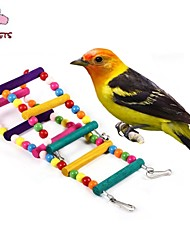 cheap -FUN OF PETS®Flexible Pet Wooden Cage Hanging Ladder for Birds