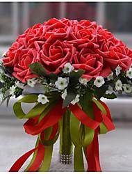 abordables -Fleurs de mariage Bouquets Mariage Polyester / Mousse / Satin 26cm