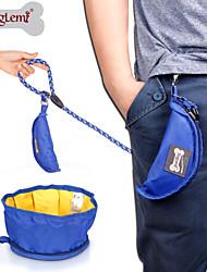 cheap -Dog Bowls & Water Bottles Pet Bowls & Feeding Waterproof Portable Foldable Black Gray Green Blue