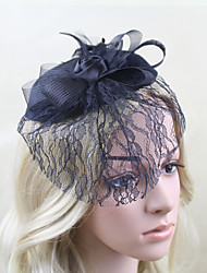 cheap -Women Fabric Hair Clip , Party Mesh / Satin Flower Headpiece