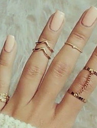 cheap -Knuckle Ring Contour Gold Silver Alloy Leaf Princess Classic Fashion / Women's