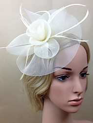 cheap -Net Fascinators / Flowers with 1 Wedding / Special Occasion Headpiece
