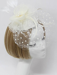 cheap -Women Fabric Hair Clip , Party Sweet Veils Headpiece