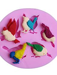 Недорогие -3d сороки cakemold резак Sugarcraft силикона помады шоколад украшения инструменты (случайный цвет)