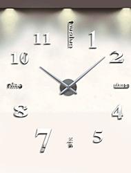 Недорогие -Современный современный Нержавеющая сталь Круглый В помещении AA Украшение Настенные часы Аналоговый Нет / Движение кварца
