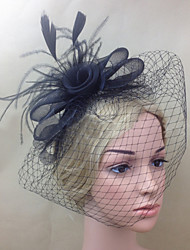 cheap -Women Fabric Hair Clip , Party / Casual Mesh / Feather Headpiece