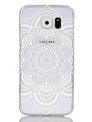cheap -Case For Samsung Galaxy S6 edge / S6 / S5 Mini Transparent Back Cover Mandala PC
