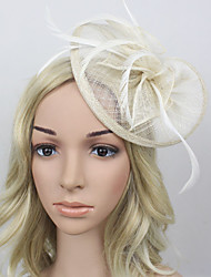 cheap -Women Feather / Satin Vintage / Party Hair Clip Headpiece