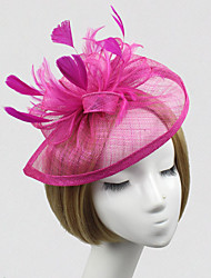 cheap -Feather / Net Fascinators / Flowers with 1 Wedding / Special Occasion Headpiece