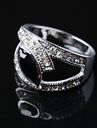 cheap -Party/Casual Fashion Alloy/Crystal Leaves Statement Ring