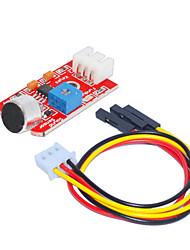 Недорогие -звук датчика (красный) 1 отверстие белый терминал с 3pin Дюпон проволоки
