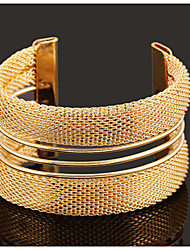 cheap -Cuff Bracelet Vintage Party Work Casual Adjustable Gold Plated Bracelet Jewelry Screen Color For