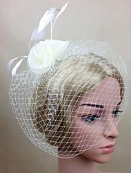 cheap -Women Mesh / Feather Casual Party Veils Hair Clip Headpiece