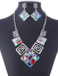 cheap -Crystal Jewelry Set Pendant Necklace Statement Vintage Party Work Casual Earrings Jewelry Screen Color For Party