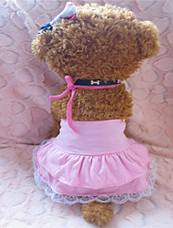 cheap -Dog Dress Dog Clothes Pink Cotton Costume For Summer